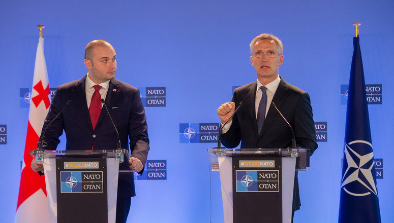NATO Secretary General with Prime Minister Mamuka Bakhtadze of Georgia, 18 JUL 2018