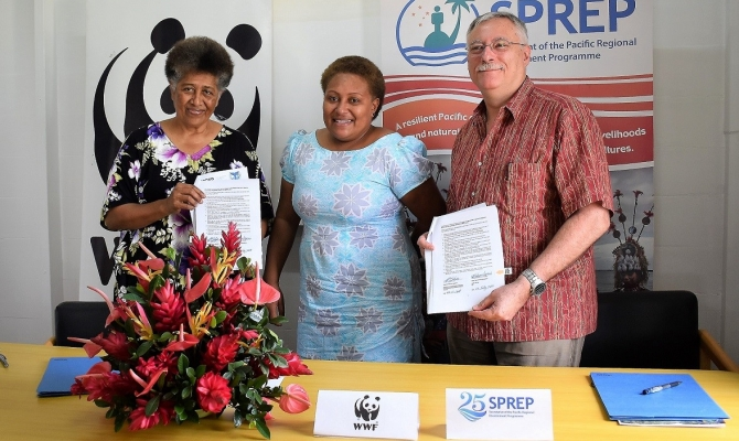 SPREP And WWF Seal Partnership For Environmental Work In Macuata Province, Fiji