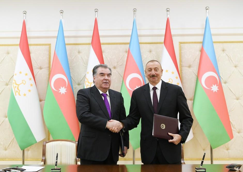 Azerbaijan, Tajikistan signed documents