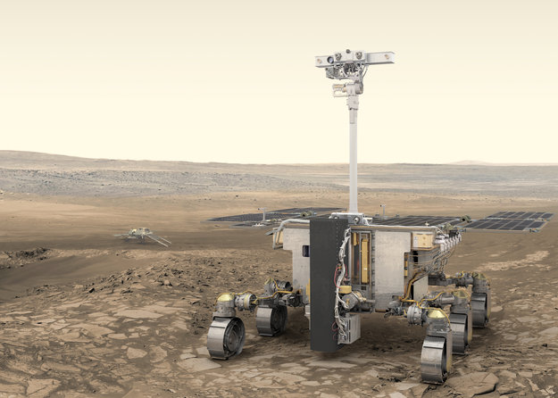 Name the European robot who will search on Mars on the trail of life.