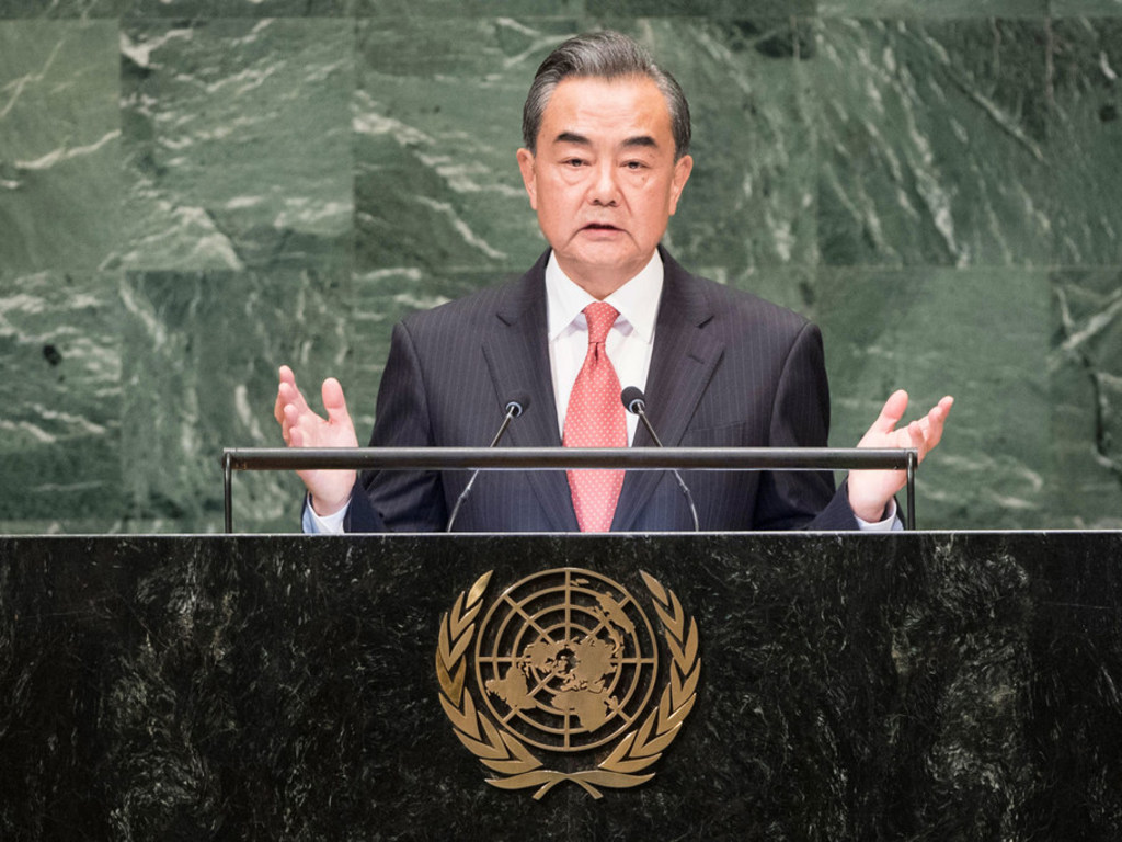 At UN, China says it will not be 'blackmailed' or yield to trade pressure
