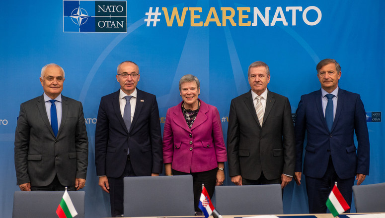 Four Allies sign agreement to create a Multinational Special Aviation Program with a training facility in Zadar, Croatia