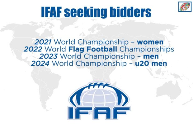 IFAF has officially started the bidding process for the next cycle of global events.