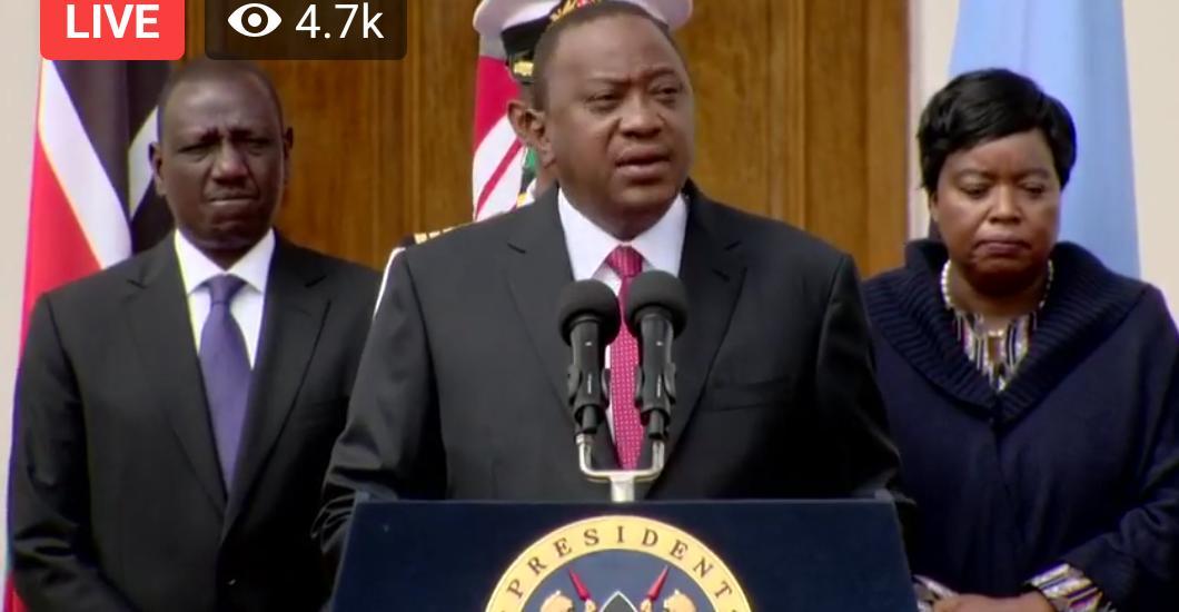 Kenya: H.E PRESIDENT UHURU KENYATTA- STATEMENT ON THE TERRORIST ATTACK AT DUSIT COMPLEX, NAIROBI.