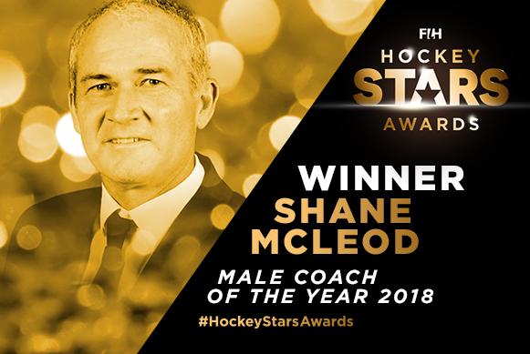 International Hockey Federation: Male Coach of the Year 2018: Shane McLeod