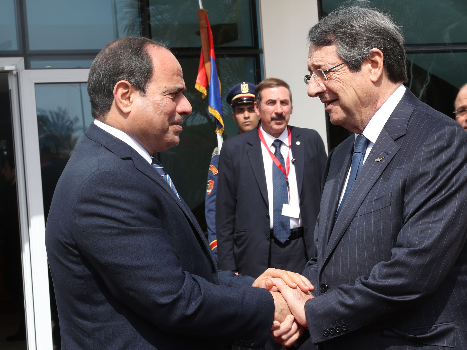 Mr Nicos Anastasiades had a meeting with the President of the Arab Republic of Egypt