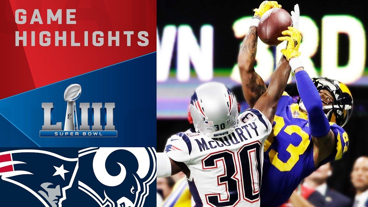 NFL: Patriots vs. Rams | Super Bowl LIII Game Highlights