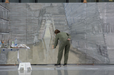 Large-scale painting project at NATO Headquarters