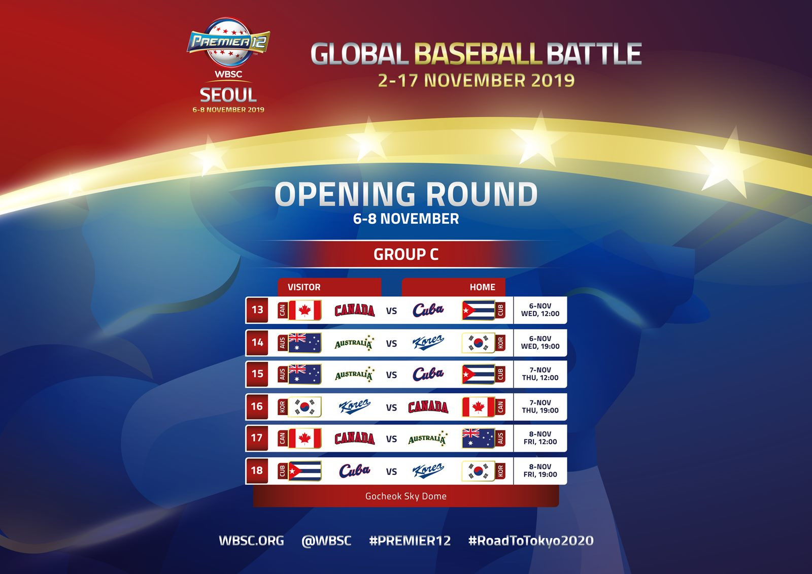 Seoul Group C schedule for 2019 WBSC Premier12, Korean legend Seung-Yuop Lee named Ambassador