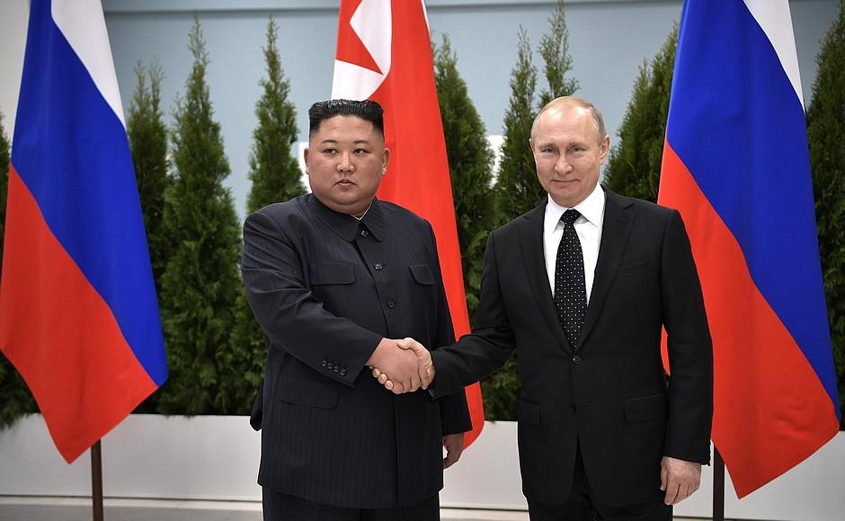 First Meeting Between Vladimir Putin and Kim Jong-un