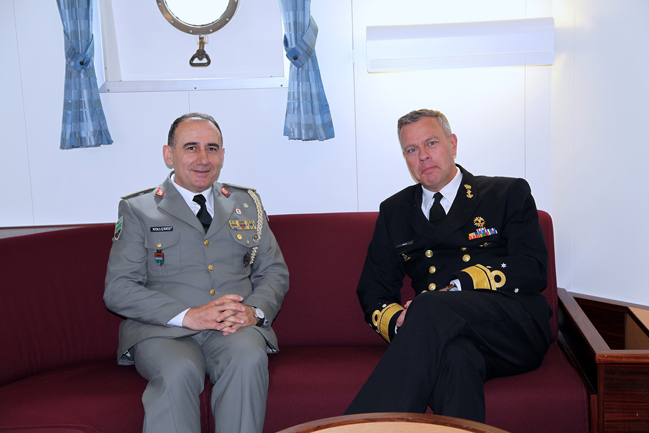 The Albanian Naval Force with the NATO Maritime