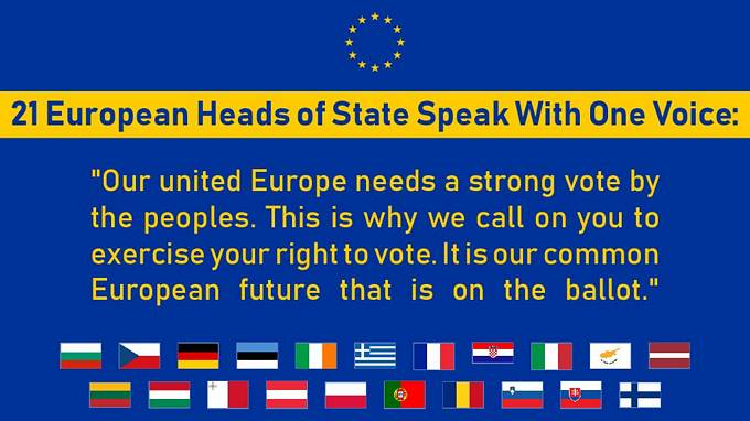 21 Heads of State: Joint Call for Europe
