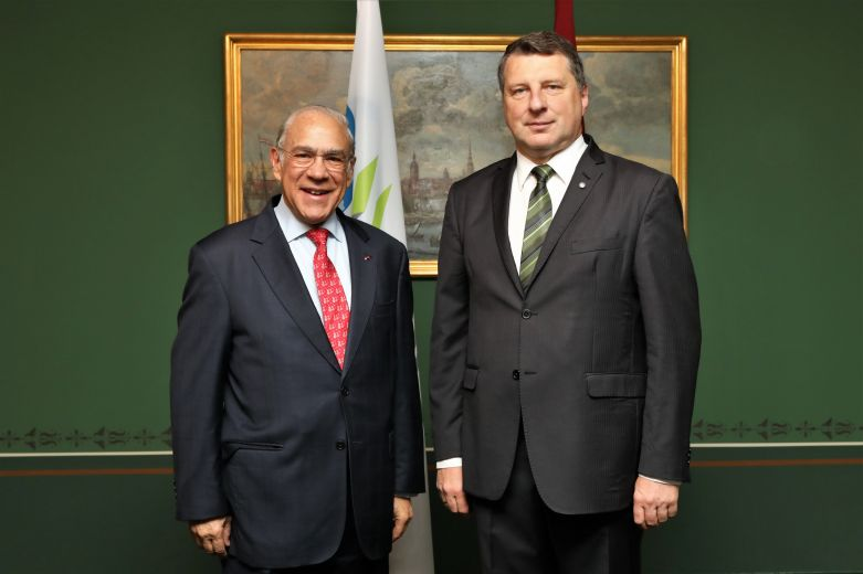 The President of Latvia meets the Secretary-General of the OECD