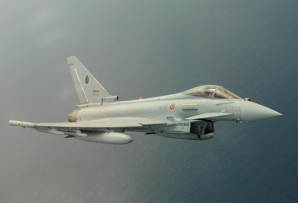 Italian Eurofighters over Romania