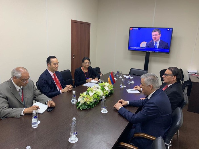 Armenia meets with Singapore for Industry and Trade