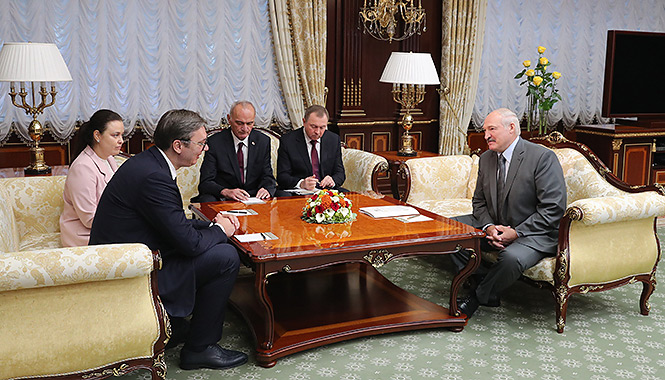 Belarus President met with the Serbian President