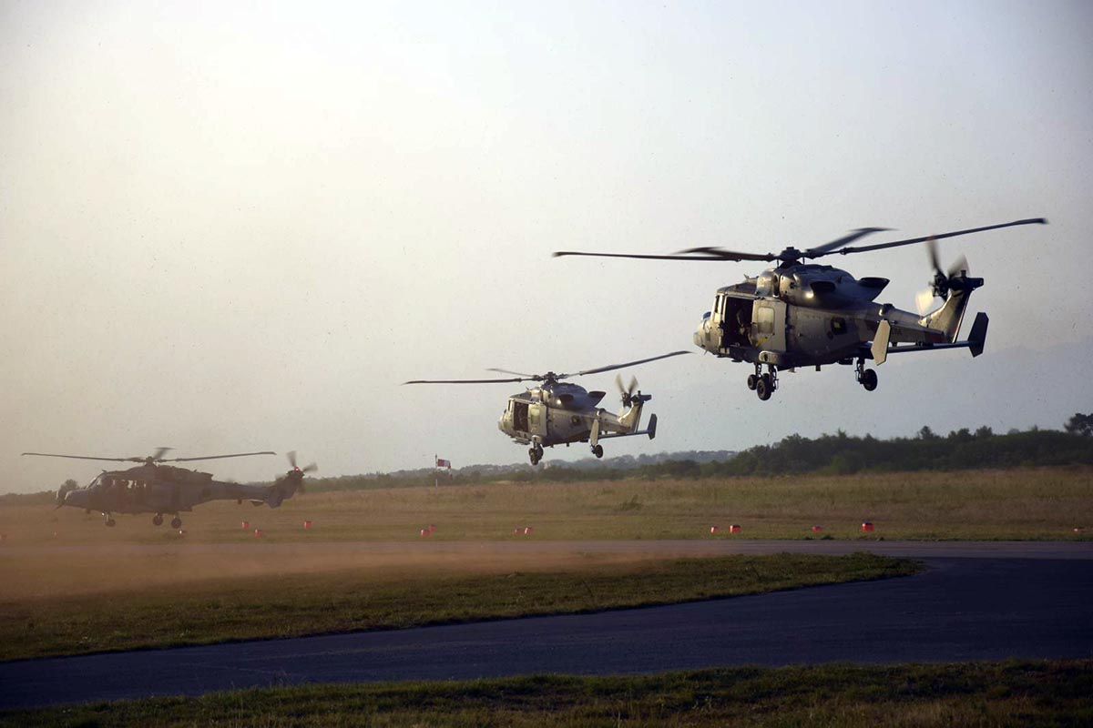 "British and French helicopters arrive for ""Swift Response 19"""