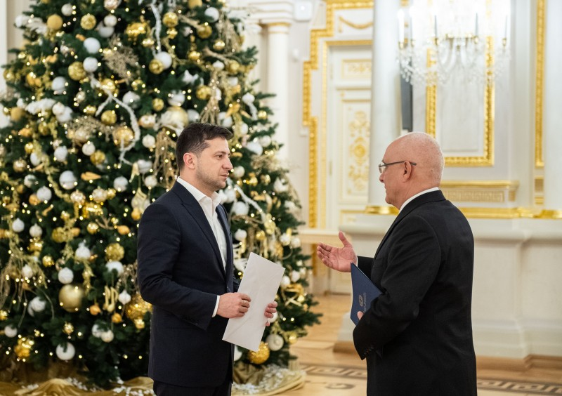President of Ukraine received Credentials from the Ambassadors of Greece and Canada